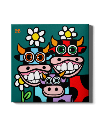 Cow Family Bob Art by Bob Marongiu