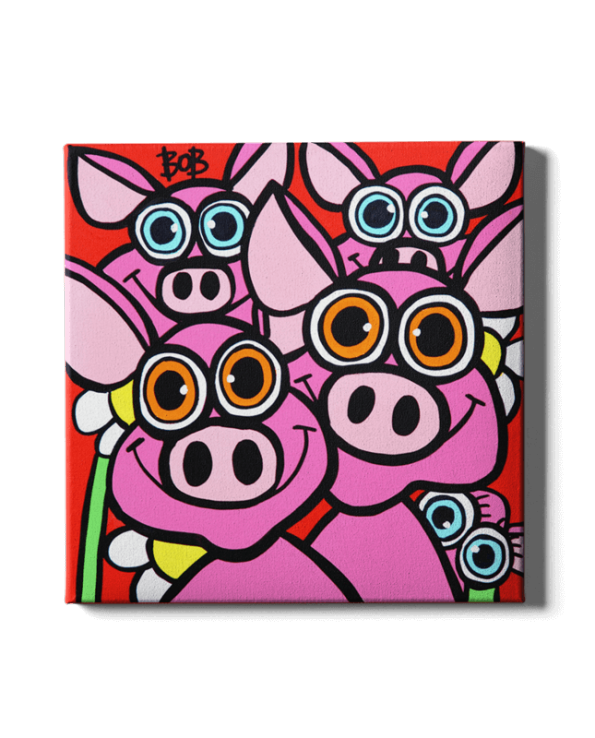 Pig Family Bob Art by Bob Marongiu