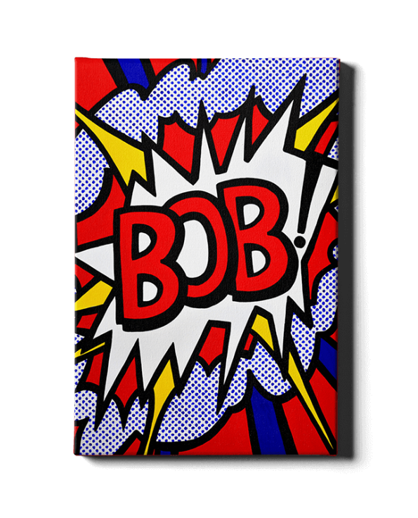 J'adore-Roy-Lichtenstein Bob Art by Bob Marongiu